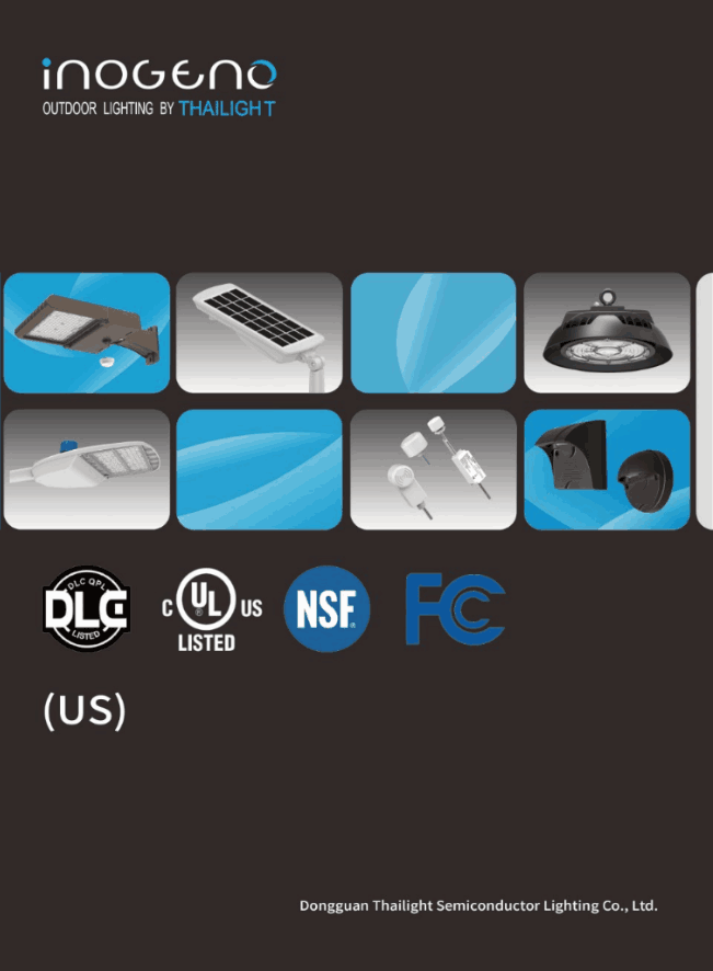 Inogeno Full Lighting catalogue of US Market